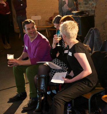 Sue Davis and others at the London Content Strategy Meetup.