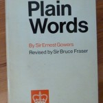 copy of Plain Words book