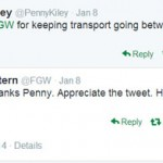 Twitter dialogue between me and First Great Western