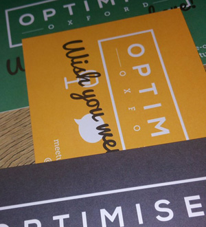 Flyers for Optimise Oxford.