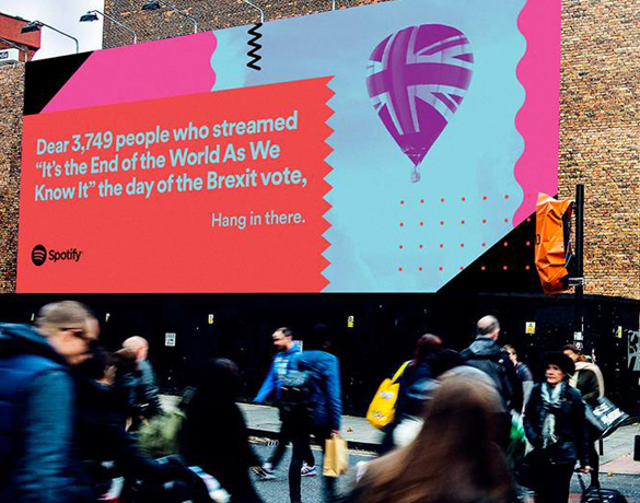Spotify's Brexit-themed poster.