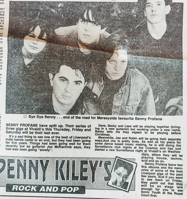 "Newspaper cutting with byline ""Penny Kiley's Rock and Pop""."