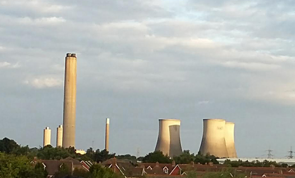 Didcot power station's cooling towers, looking beautiful in the dawn light.